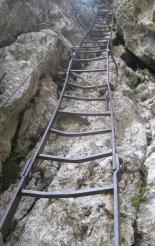 Rax-Alpok: Teufelsbadstubensteig - első létrás szakaszunk