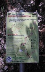 Hohe Wand: Gebirgsvereinssteig - falrajz a túráról