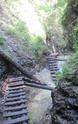 Szlovák Paradicsom: Suchá Belá egy szép lépcsős része
