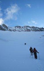 Grossglockner (3798m) - útban az Erzherzog-Johann-Hütte(3454m) felé