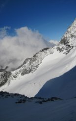 Grossglockner (3798m) - útvonalunk a távolban
