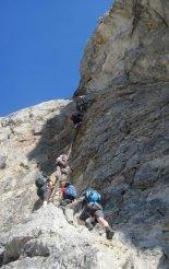 Rax-Alpok: Hans von Haid-Steig - első létrás szakaszunk