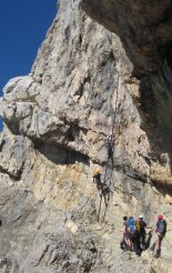 Rax-Alpok: Hans von Haid-Steig - következő létrás szakaszunk