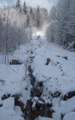 Hótalpas túra: Alacsony-Tátra - Gyömbér-csúcs(2043m) - Utunk elején egy gyönyörű patak mellett