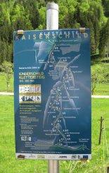 Kaiserschild klettersteig - falrajz a túráról