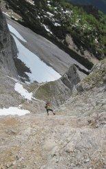 Kaiserschild klettersteig - útban a beszállás felé