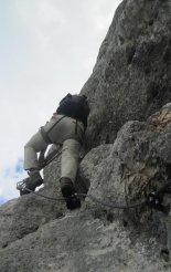 Kaiserschild klettersteig - a via ferrata túra kezdete