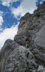 Kaiserschild klettersteig - túl a kezdeti nehézségeken