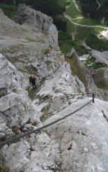 Kaiserschild klettersteig - egy könnyebb részen