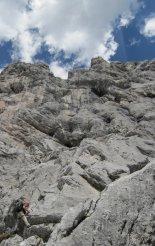 Kaiserschild klettersteig - ismét kezdődnek a nehézségek