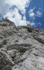 Kaiserschild klettersteig - újra egy nehezebb szakaszon