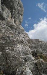 Kaiserschild klettersteig - egy nehezebb részen
