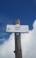 Gyömbér-csúcs gerinctúra: Chopok(2024m) csúcsa