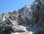 Schneeberg(2076m) - túránkat sziklás ösvényen folytatjuk