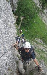 Via ferrata: Rax-Teufelsbadstubensteig - kezdődik a klettersteig