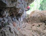 Hohe Wand: Wildenauersteig - a kémény bejáratánál